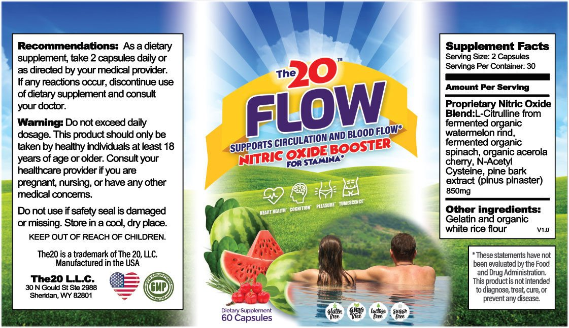The 20 FLOW Nitric Oxide Booster ingredients